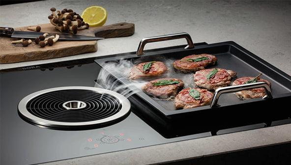 bora basic kochfeldabzug kochplatte zum steaks grillen