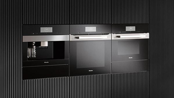 miele einbaugeräteserie pureline black kaffeevollautomat backofen dampfgarer