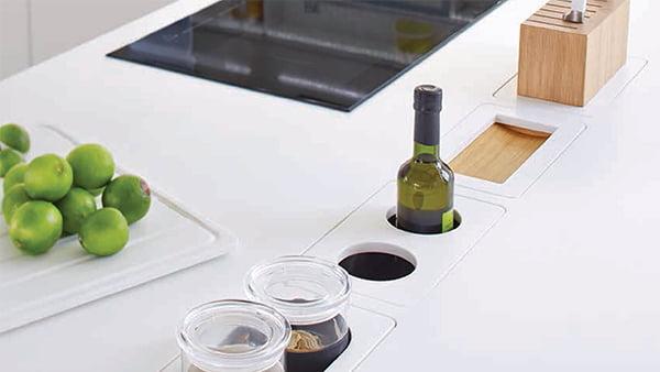 warendorf küche funktionskanal in der arbeitsplatte
