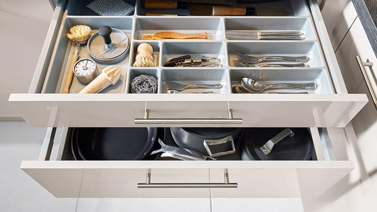 schüller küchen elemente schubladenauszug mit besteckeinsatz