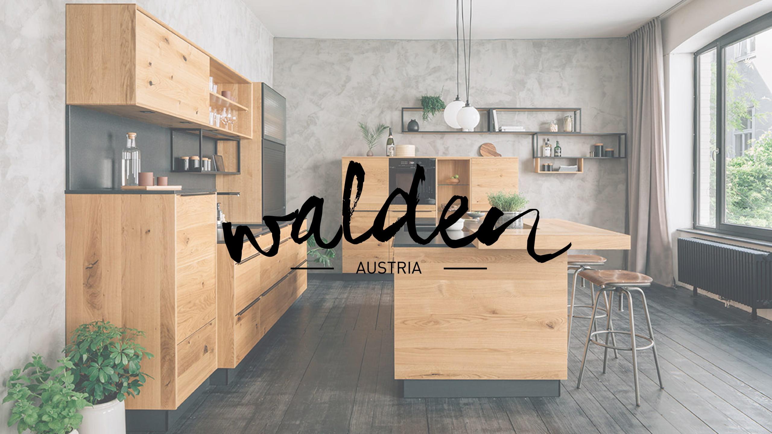 walden naturholzküche fourth mit walden logo
