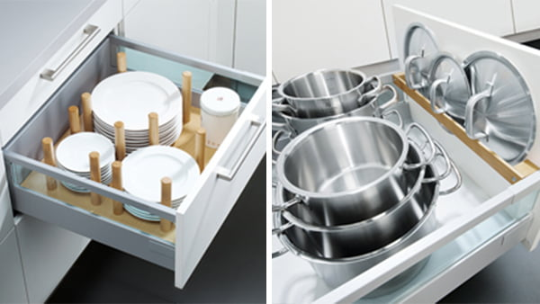 Topfhalter und Tellerhalter von Schüller aus holz