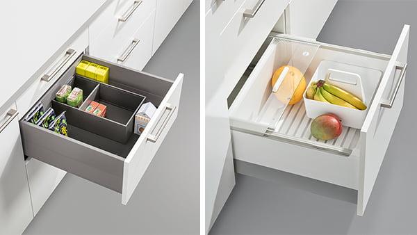 schüller schubladeneinsatz metall und plastik box im küchen unterschrank