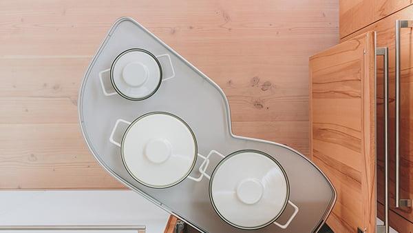 walden traditional küche mit le mans schwenkauszug