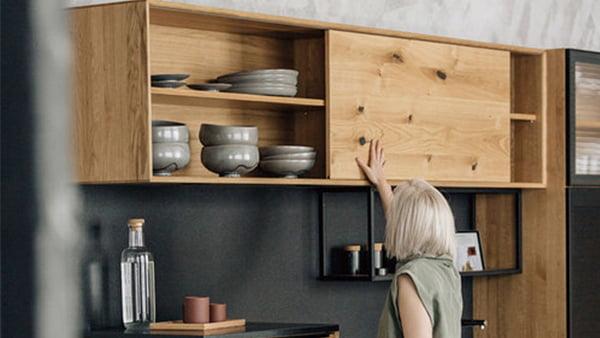 walden küche fourth mit hochschrank aus eichenholz