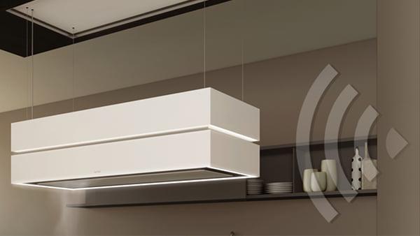 Berbel Skyline Dunstabzugshaube in weiß mit home connect funktion
