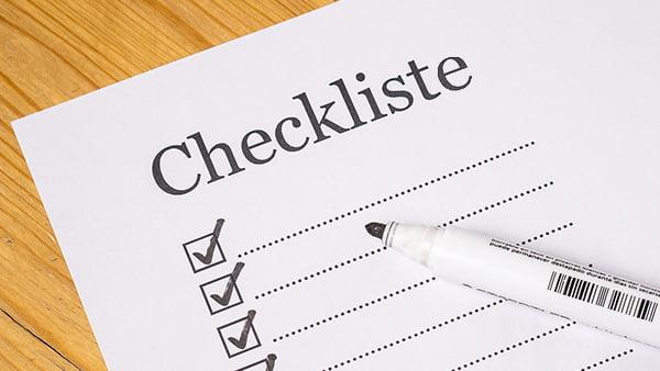 Checkliste für die Küchenplanung zum Abhaken