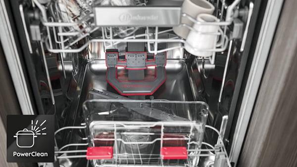 power clean funktion bei einem bauknecht geschirrspüler