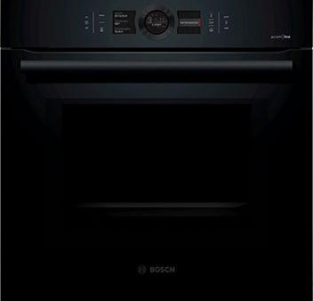 Bosch Einbau Backofen der Serie 8 accent line in schwarz mit künstlicher intelligenz