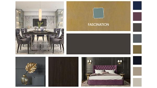 farbbeispiele der brigitte küchen stilwelt fascination mit sechs beispielbildern für trendfarben in dunkelblau und lila