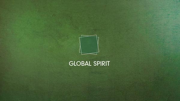 global spirit stilwelt von brigitte küchen als grafisches farbspiel in grün tönen
