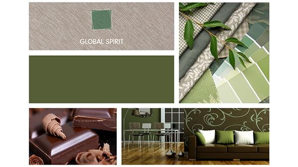 farbbeispiele der brigitte küchen stilwelt global spirit mit sechs beispielbildern für natürliche farben in grün und braun