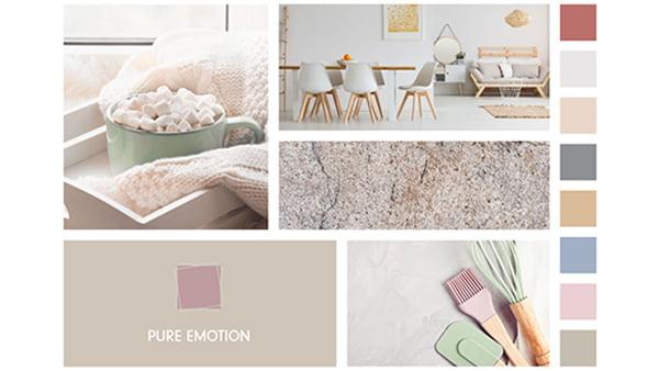 farbbeispiele der brigitte küchen stilwelt pure emotion mit vier beispielbildern für pastellfarben