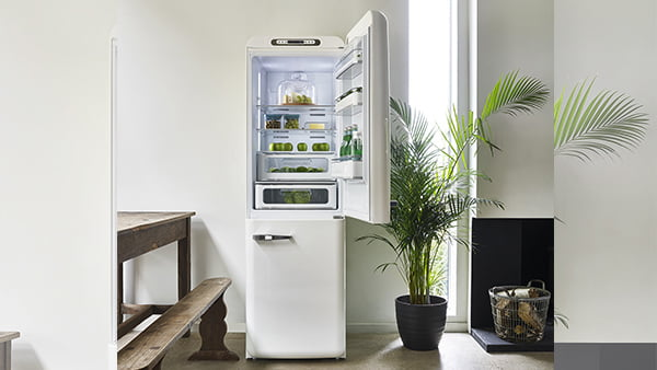 weißer standkühlschrank als kühl gefrier kombination