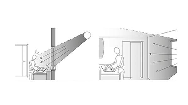 Skizze für natürliche Beleuchtung in der Küche