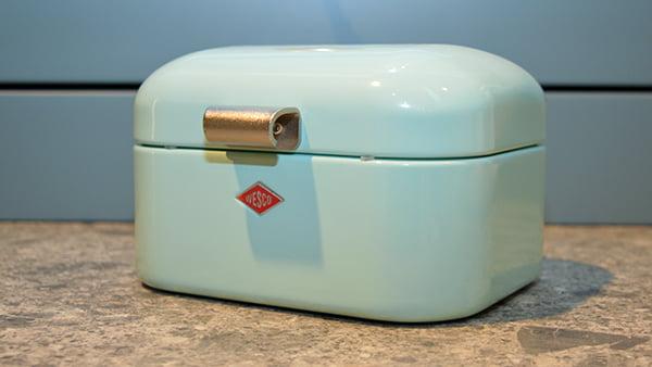pastellblaue brotdose von wesco
