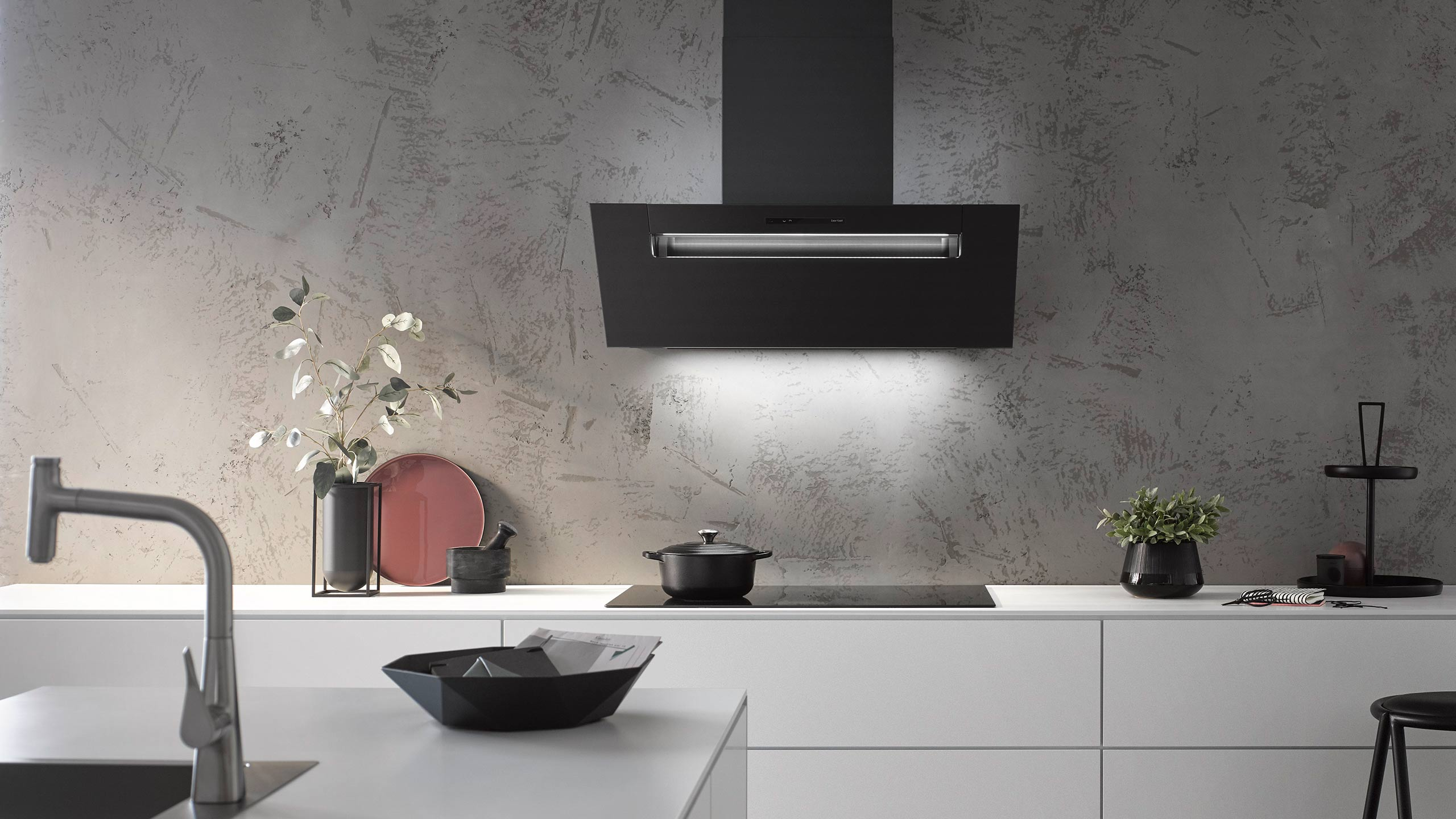 berbel black edition abzugshauben skyline edge, formline und ergoline header