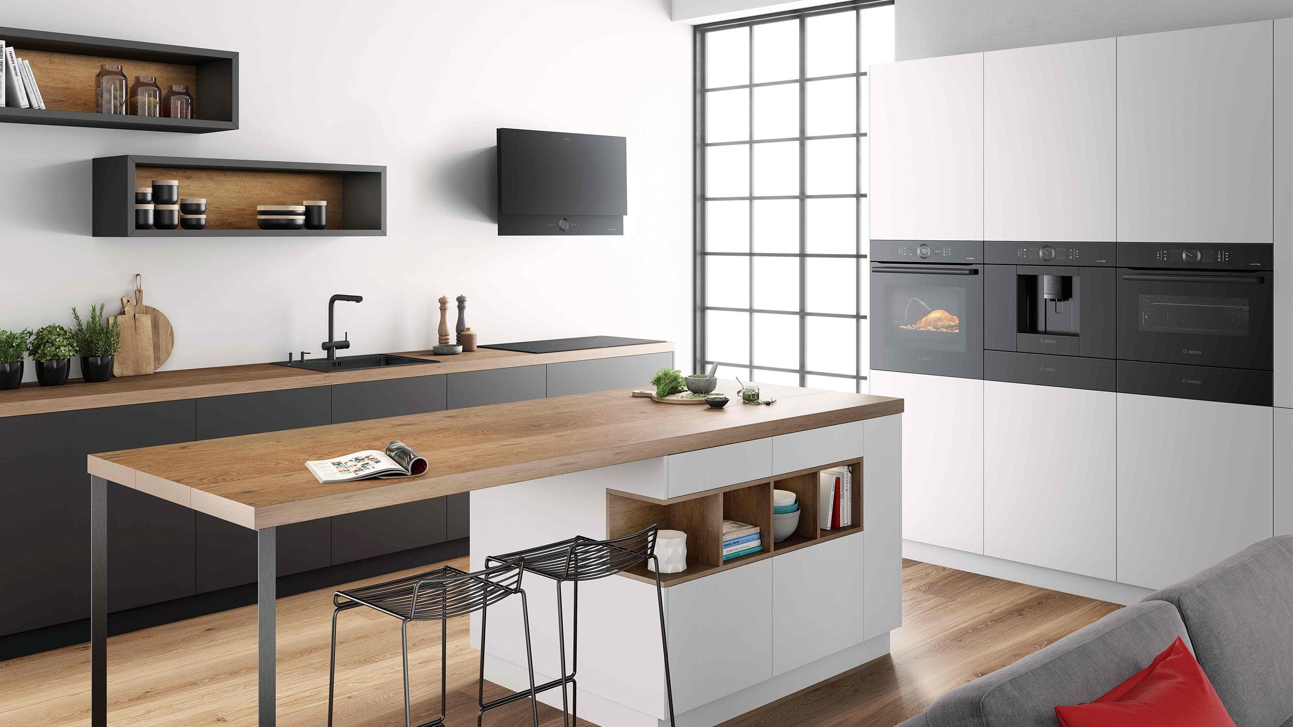 bosch accent line carbon black einbaugeräte header im küchen staude magazin