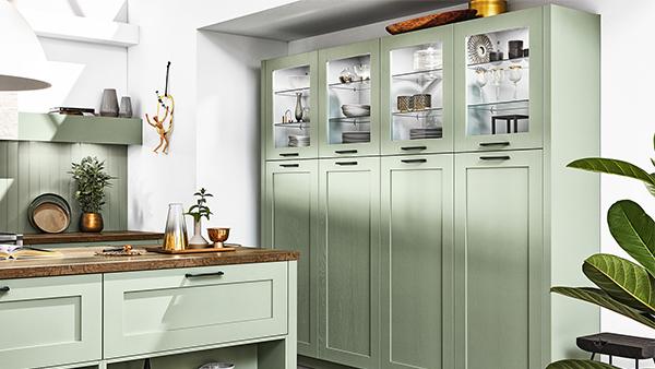 landhausküche pastellgrün von häcker