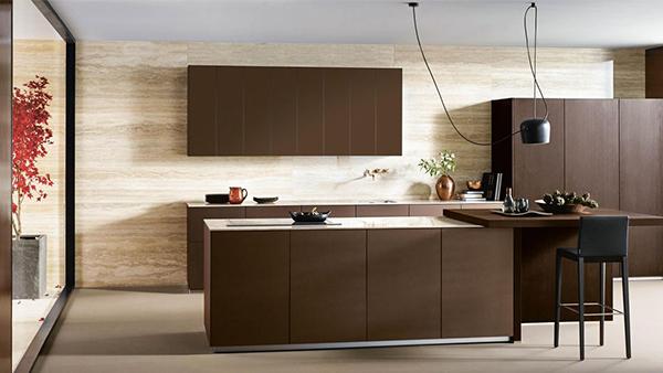 next125 metallic bronze küche