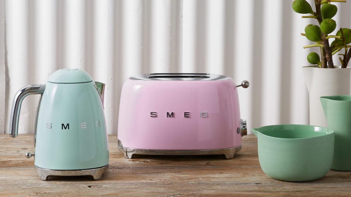 smeg pastellfarben in der küche